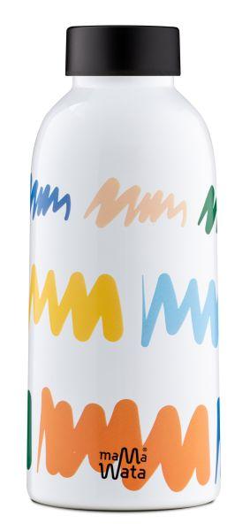 MamaWata Edelstahl Trinkflasche DOODLE