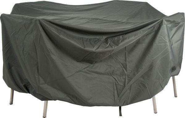 Stern Schutzhülle für Sitzgruppe Ø 215x90 cm mit Bindebändern und Gummizug 100% Polyester grau