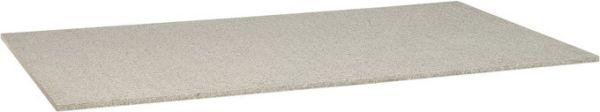 Stern Tischplatte 160x90 cm Granit grau gebürstet