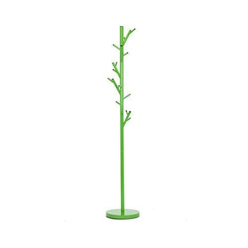 Jan Kurtz Kleiderständer Tree, Stahlrohr Pulverbeschichtet Grün Ral 6018,170 Cm Hoch, Rohr: Ø 32 Mm, Fuß: Ø 28 Cm