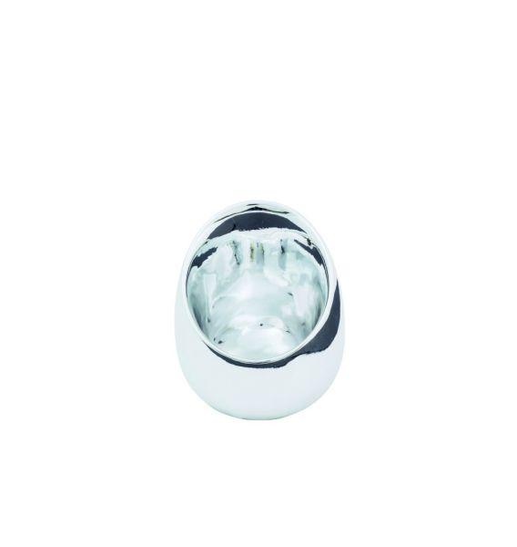 Sompex KRISMASI Keramik-Pott, silber