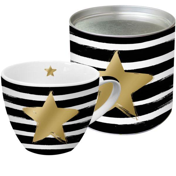 PPD Star & Stripes Tasse/ Kaffeebecher XXL mit echten Gold-und Platinapplikationen