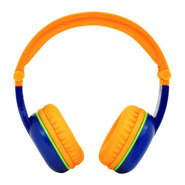 Kabellose Bluetooth Kopfhörer für Kinder - BuddyPhones Scout Play | Verstellbare Lautstärkebegrenzung zu 75, 85, 94 dB | Faltbar mit 14h Batterielaufzeit