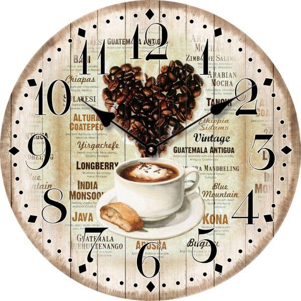 Sompex Coffee Heart Wanduhr