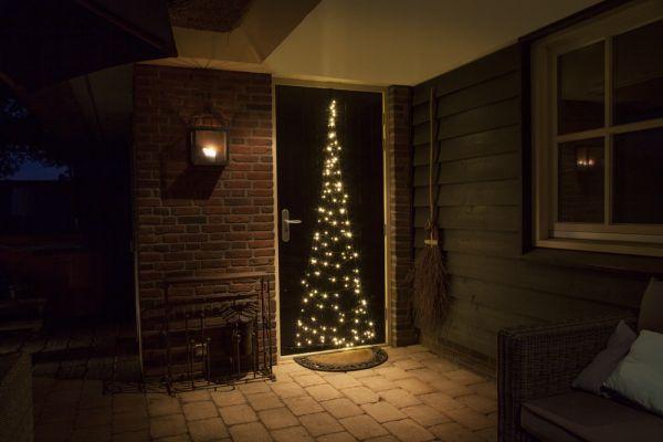 FAIRYBELL LED Weihnachtsbaum / LED Lichterkette für Haustür, 210cm mit 120 LEDs