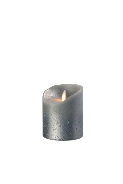 Sompex Flame Echtwachs LED Kerze, fernbedienbar, grau metallic – in verschiedenen Größen