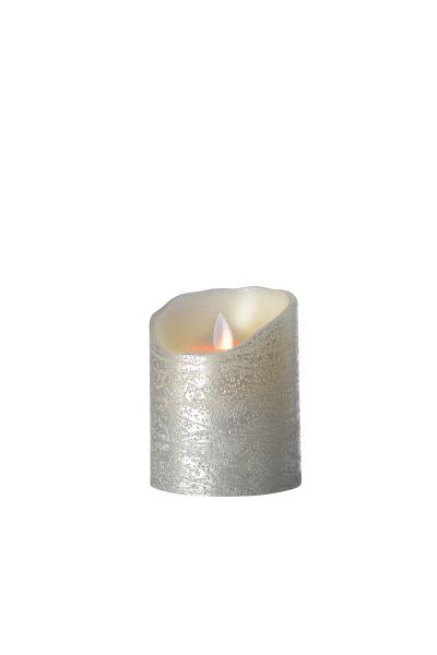 Sompex Flame Echtwachs LED Kerze, fernbedienbar, silber – in verschiedenen Größen