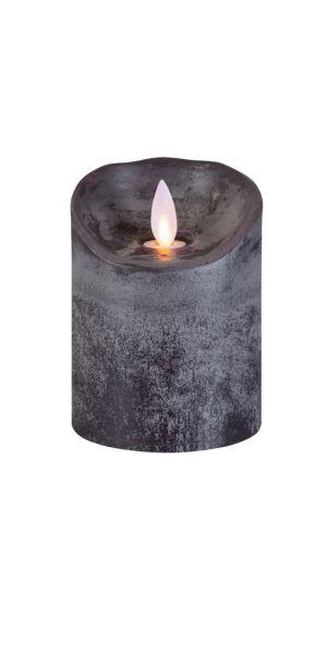 Sompex Flame Echtwachs LED Kerze, fernbedienbar, anthrazit – in verschiedenen Größen