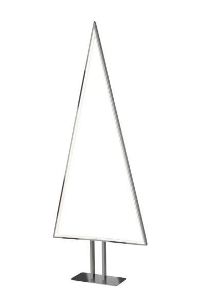 Sompex Designleuchte / LED Weihnachtsbaum Stehleuchte Pine, Aluminium / Silber, Höhe 100cm