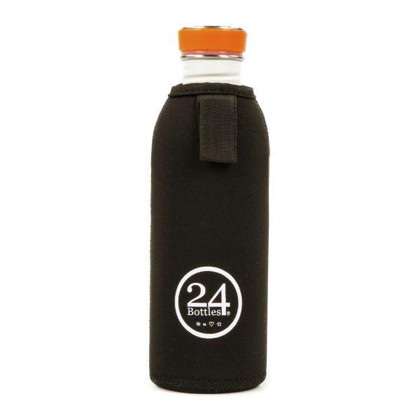 24Bottles - Neopren Flaschenüberzug / Thermal Bottle Cover - Black