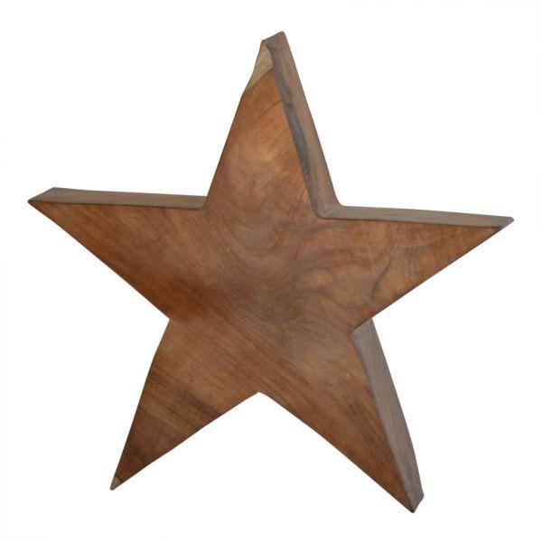 Jan Kurtz  - Deko Holzstern STAR - massives Teakholz - in verschiedenen Größen