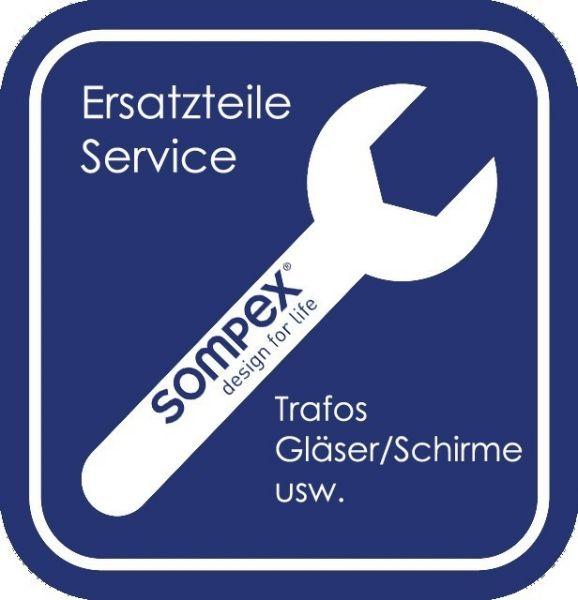 Ersatzteil Globus-Glas zu Sompex Tischleuchte Contro 87508 D7Cm Dekor Weltkugel