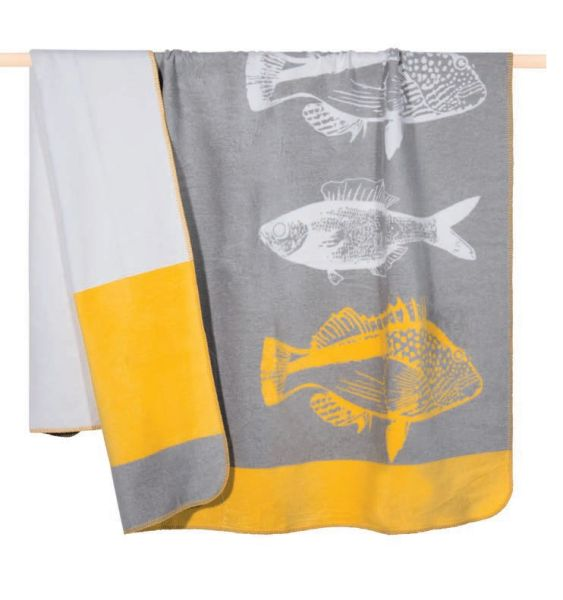 PAD Wolldecke FISH 150 x 200 yellow